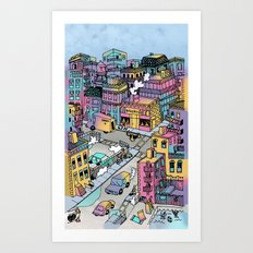 Tiny Town Art Print