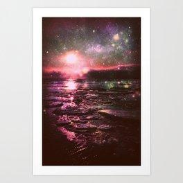 Mystic Waters Deep Pastels Art Print