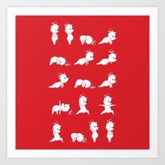 Yoga Bear - Polar Bear Art Print
