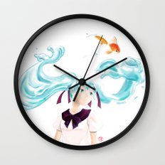 Bottle Miku Wall Clock