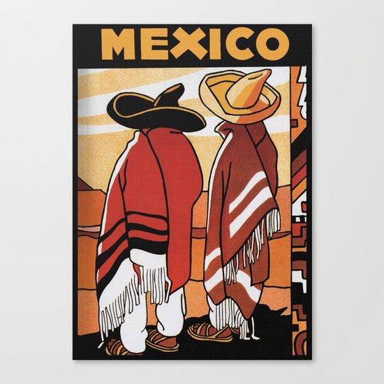 Mexico - Vintage Travel Poster Canvas Print