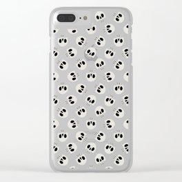 Cute Skulls (Black) Clear iPhone Case