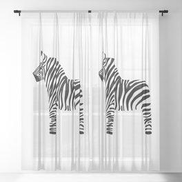 Dala Zebra Sheer Curtain
