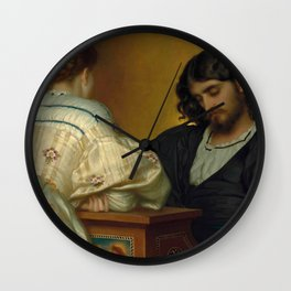 Frederic Lord Leighton - Golden Hours - Vintage Victorian Retro Fine Art Oil Painting Wall Clock
