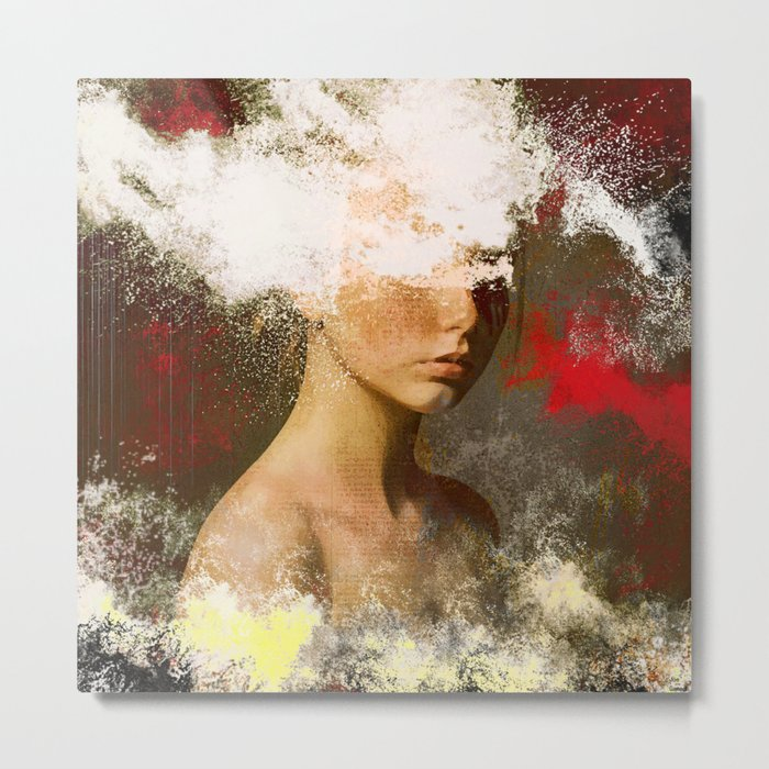 The woman without look Metal Print