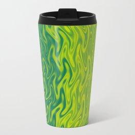 Ripples Fractal in Greens Travel Mug