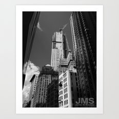 Looking Way Up on Broadway Art Print