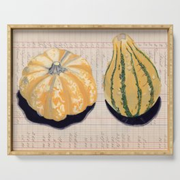 Gourds in Gouache Serving Tray