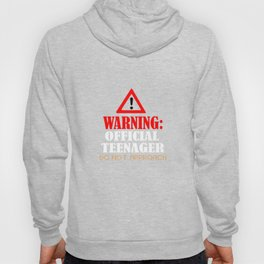 Humorous Do Not Approach Graphic Tee Shirt Gift Funny Warning Official Teenager Teen Young Men Hoody