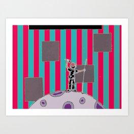 Moon Man 2 Art Print