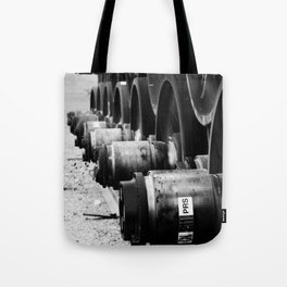 Rail Wheel Tote Bag