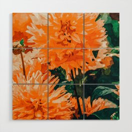 Coral Floral Wood Wall Art