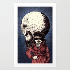 Posing on the moon Art Print