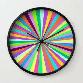 rainbow type things Wall Clock