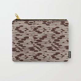 knit patchwork in sand Carry-All Pouch