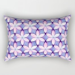 Daisies Pink Blue Rectangular Pillow