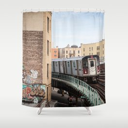 Incoming 2 Train Shower Curtain