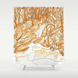 Eno River 35 Shower Curtain