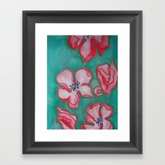 Cherry Blossoms Falling (For You) Framed Art Print