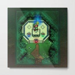 Zelda Link to the Past Master Sword Metal Print
