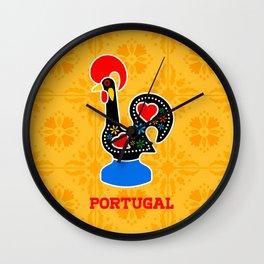 Barcelos Rooster (Galo de Barcelos) Wall Clock