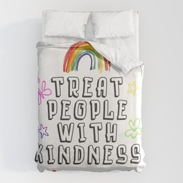 TREAT PEOPLE WITH KINDNESS - PRIDE EDITION Duvet Cover