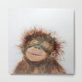 Cute Orangutan Metal Print