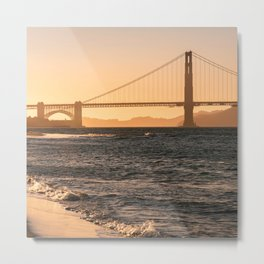 Sunset at the Golden Gate Bridge in San Francisco California, Travel Photography Metal Print