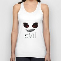 evil Tank Tops featuring Evil by Timkirman