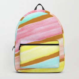 Retro Watercolor Stripes  Backpack