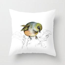 Sylvereye - Waxeye bird Throw Pillow