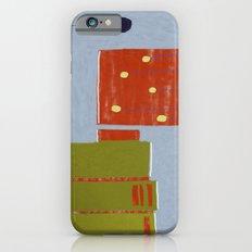 blue wall, purple tree iPhone 6s Slim Case