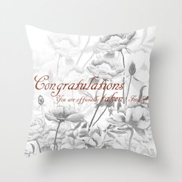 Engagement present marriage present Throw Pillow