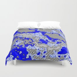 Unique abstract pattern mix 2B Duvet Cover
