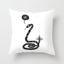 Snek Throw Pillow