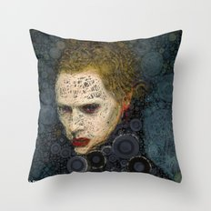 RITRATTO in blu Throw Pillow