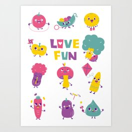 love fun Art Print