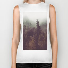 Mountain Morning Mist - Nature Photography Biker Tank