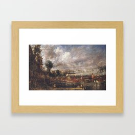 John Constable 1776–1837   The Opening of Waterloo Bridge ('Whitehall Stairs, June 18th, 1817') Framed Art Print