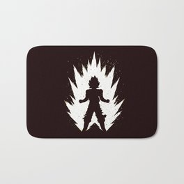 Super Saiyan Vegeta Black White Bath Mat