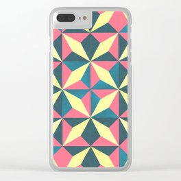 diamond yellow pedals Clear iPhone Case