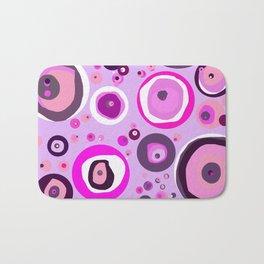 Pink Abstract Balls Bath Mat