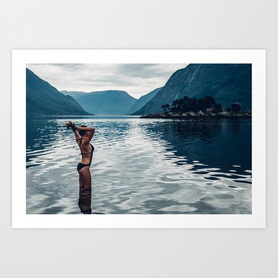Girl in the Water Art Print