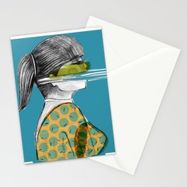 mujer en  movimiento Stationery Cards