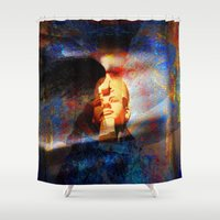 egypt Shower Curtains featuring ancient Egypt by  Agostino Lo Coco