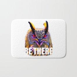 Owl Be There pun Bath Mat