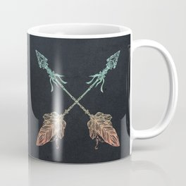 Arrows Turquoise Coral on Navy Coffee Mug