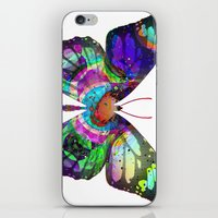 lsd iPhone & iPod Skins featuring LSD butterfly by Pink Eyed Paranoia