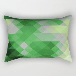 Aromantic Pride Triangle Gradient Pattern Rectangular Pillow