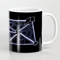 death star Mugs featuring Death Star by clawsalina